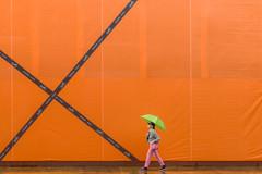 Yorkville Rain Day (Underground Joan Photography) Tags: hermes orange store bloorstreetwest toronto streetphotography umbrella street minimal minimalism yorkville