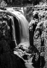 Paterson Falls (New Jersey) (a2roland) Tags: normanzeba2rolandyahoocom paterson new jersey nj passaic river water falling smooth silky black white bw monotone mono picture scenic landscape nature darker contrast © norman zeb photography all rights reserved