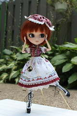 Lovely Ainslie (Dollymama2015) Tags: pullipmerl doll groovedoll redhead ginger lolitastyle dolldress handmadedollclothes sugarlattice gnome garden outdoors