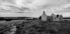 2017_219 (Chilanga Cement) Tags: wales anglesey welsh chapel capel clouds cloud nikon nikondf 14mm expanse bw blackandwhite dinlligwy lligwychapel capellligwy heritage history sky monochrome grass fields rugged faith medievalarchitecture medieval 12thcentury moelfre wall walls coast sea ocean