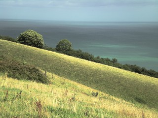 Rolling Hills and The English Channel