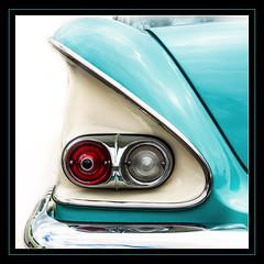 Bel air #1 (madmtbmax) Tags: us usa car auto vintage hobby retro old chrome american dream chevrolet bel air 1958 nikon d700 chevy tail rear light bumper square mint