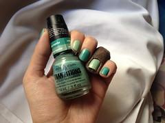 Duplicityy (China Glaze) (Daniela nailwear) Tags: duplicityy chinaglaze tranzitions cremoso verde esmaltes esmalteimportado mãofeita