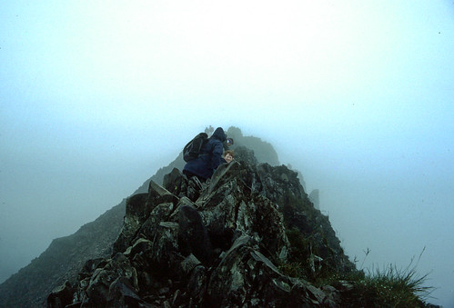 Scary moments on Crib Coch