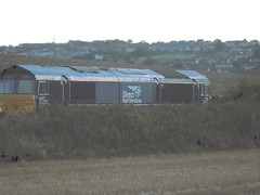 DRS 66424 (hgwells30) Tags: drs 66 424 heads 626h 1818 millerhill ss elgin yard with 430 tailing