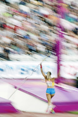 Pole vault panning. London 2017 (Sean Hartwell Photography) Tags: angelicabengtsson angelica bengtsson sweden athletics women athlete polevault iaaf world championships london 2017 olympic stadium stratford motion blur