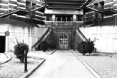 last view back (flyerkat_L.E.) Tags: vienna city gasometer film analog superpan200 nikon fm2 35mm bw black white monochrome