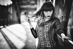Slavi (d26b73) Tags: portrait noiretblanc urbanarte bw monochrome girl blackandwhite