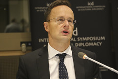 Péter Szijjártó (Minister of Foreign Affairs and Trade of Hungary) (Academy for Cultural Diplomacy) Tags: institute cultural diplomacy berlin germany deutschland international symposium summit conference un united nations general assembly unga new york manhattan queen brooklyn times square empire state politics economy economics university nyu guardia avenue madison broadway audience speaker speech washington park