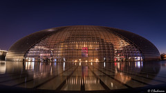National Centre for the Performing Arts, Beijing, China (bachmann_chr) Tags: nationales zentrum für darstellende künste nationalcentrefortheperformingarts beijing china landschaft landscape germany sightseeing nikon nikkor d750 vollformat blaue stunde blue hour langzeit langzeitbelichtung long exposure nachtaufnahme night peking