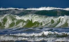 Quand la mer fait des vagues (Ciceruacchio) Tags: vague onda wave mer sea mare océan ocean oceano côteatlantique atlanticcoast costaatlantica rivage littoral shore hourtin médoc aquitaine aquitania aquitanien france francia frankreich nikond750