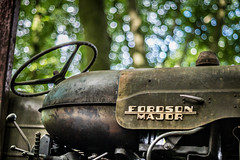 Major Bokeh (Captainchaoz) Tags: ebc x fujinon 50mm f16 fordson tractor woods dursley
