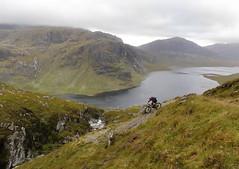 second descent (csnyder103) Tags: colleen mountainbiking scotland remote loch adventure mountains beauty raw canoneosm5 canonefm1122 fionnloch highlands dubhloch