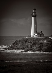 Pigeon Point Lighthouse No.08 (Charlie Day DaytimeStudios) Tags: beach california clouds highway1 landscape lighthouse ocean pacificcoast pacificcoasthighway pch pigeonpointca sky surf water waves