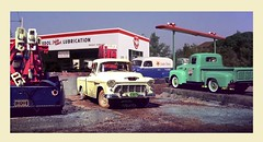 Truck Garage Lub Station (gpholtz) Tags: diorama miniatures 118 diecast pickup truck chevrolet
