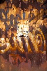 Hapax (Gerard Hermand) Tags: 1709049681 gerardhermand france paris canon eos5dmarkii formatportrait porte door metal rouille rust texte text papier paper abstraction abstrait abstract