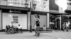 lOOks (Walimai.photo) Tags: black white blanco negro byn bw branco preto blanc noir zamora spain españa lumix lx5 street calle robado candid camino plata santiago vía