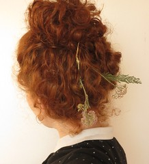 self - flowers (schilderachtigs) Tags: redhead girl hair curls flowers nature serene plants forest pale ginger