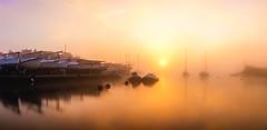 orange sunrise 2 (Anthony White) Tags: christchurch england unitedkingdom gb longexposure orangesunrise orangesky sonyalpha water riverstour christchuchsailingclub still stillwater