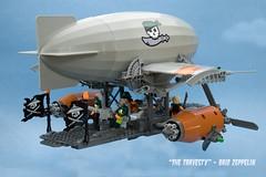 """The Travesty"" (ted @ndes) Tags: ninjago lego zeppelin dieselpunk skyfi bw17 brickworld 2017 sky pirates"