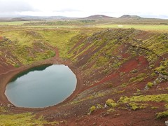 Crater lake (Red Cathedral [FB theRealRedCathedral ]) Tags: iceland crater volcano lake island ijsland