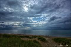 Cloudy Evening (mswan777) Tags: nature outdoor 1020mm sigma d5100 nikon seascape lakemichigan michigan stjoseph sky cloud evening waves water grass sand dune beach silver