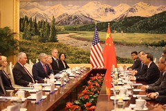 Secretary Tillerson Meets With Chinese State Councilor Yang Jiechi at the Great Hall of the People in Beijing (U.S. Department of State) Tags: rextillerson terrybranstad china beijing economic dprk security yangjiechi