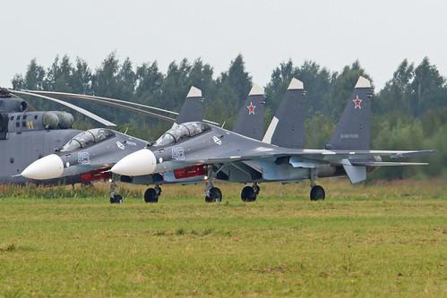 Su-30SM '45 blue' and '48 blue'