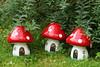 customised Morrisons toadstools DSC01604 (rowchester) Tags: morrisons toadstool mushroom paint pixie elf elves house garden