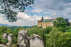 Zámecká Vyhlídka (Castle Prospect) (DC P) Tags: zámecká vyhlídka castle prospect hrubá skála czech republic hrad district old historic historical bohemia bohemian paradise dal noble water waterfront bridge cloud clouds angle adventure a7rii beautiful bej color dof digital explore fantastic landscape nature ngc outdoor outside pov travel view wideangle wide world history classic scenery beautifull rock rocks garden gardens landschaft green fantasticnature architecture depth hdr panorama trekking mystic serene