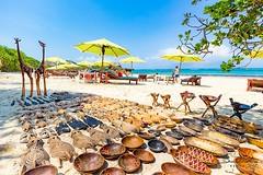 African art on the beach