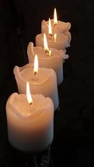 Candles (marieckejanssen) Tags: kaarsen candles light licht blindphotographer fire flam vlam