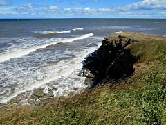 Affects of Hurricane Gurt (clickclique) Tags: cliffs rocks grass waves water white whitecaps wind surf rough nature hurricane l1gestalt goldenlandscape inexplore naturescarousel 6000viewsunlimited