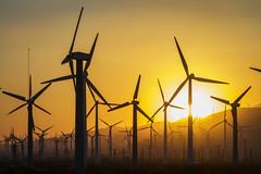 Windmills (squeemu) Tags: palmsprings windmill windmills sunset beams nature mountains california