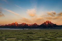 Early Dawn Tetons Capture (jpetcoff) Tags: tetons teton grand mountain mountaintop mountains plains plain national park dawn early morning sun sunshine color seren beautiful summer landscape wild wilderness vacation sky clouds wyoming jackson usa united states colors red nature real west