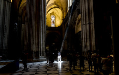 The illuminated . Catedral de Granada (DROSAN DEM) Tags: ligth luz catedral granada españa people gente religion