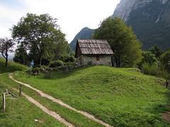 Hiška / Small hut (Damijan P.) Tags: bovec slovenija slovenia korita gorge gore hribi monutains prosenak
