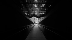 \/\/\/\ (Panda1339) Tags: uwa monochrome ldn architecture nikondf 1424g walkway uk london