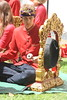 Lila Cita (2017) 08 - suspended gong player (KM's Live Music shots) Tags: worldmusic greatbritain gamelan balinesegamelan lilacita kempur gong insideout lsostlukes