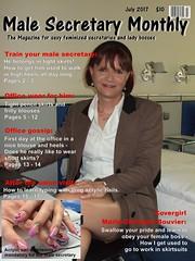 Male Secretary July 2017 (Marie-Christine.TV) Tags: male secretary feminine transvestite lady mariechristine sekretärin magazine