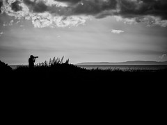Zooom (stephen cosh) Tags: ayr ayrshire bw blackandwhite candid hasselbladx1d hasselbladxcd90mm landscape mediumformat mono scotland stephencosh