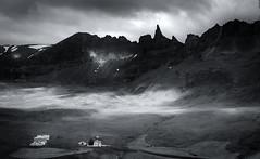 Ljósastikillinn (Jack Landau) Tags: iceland landscape mountains clouds snow capped peaks shadow light jack landau monochrome mono bw black white
