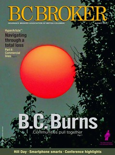 Published on the cover of BC Broker magazine
