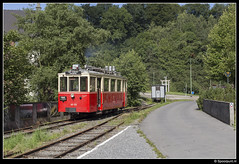 TTA AR.133 - Pont d'Érezée (Spoorpunt.nl) Tags: 6 augustus 2017 tta tramway touristique de laisne vicinal buurtspoorwegen erezée mazouttram motorwagen ar133 autorail pont dérezée a 1344 1208 bijwagen