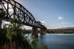 Parker Bridge (Kyle French) Tags: bridge river railroad coloradoriver parkeraz arizona parker longexposure ndfilter