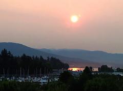 Sunrise in Smoke (Explore) (FernShade) Tags: vancouver britishcolumbia westcoast sunrise smokeysunrise driftingsmokewildfires smoke forestfires bcwildfires2017