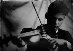 5x7 collodion tintype. Darlot lens. Voce camera (Eric Baggett) Tags: monochrome ericbaggett ghostly moody violin myson alumitype alternativeprocess portraitwithsoul portrait wetplatephotography tintype collodion wetplate