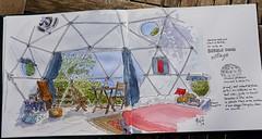 Bubble dôme (P h i l de couleur) Tags: aquarelle architecture encre ink reunion reunionisland croquis sketch dessin dome watercolor intérieur