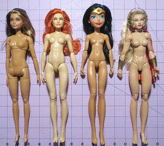 Buff Ladies Comparison (RequiemArt.com) Tags: wwe fashion doll becky lynch comparison photos mattel made move mtm barbie dc super hero girls wonder woman sdcc 2016 she ra shera exclusive foot