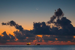 Training Day (gseloff) Tags: sunrise ship galvestonshipchannel gulfofmexico water ocean texas sky clouds forjasmine gseloff